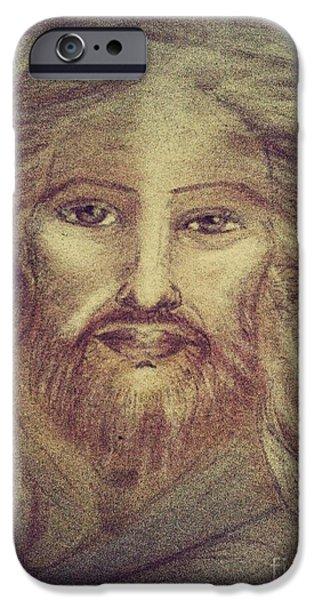 Son Of God Pastels iPhone Cases - Jesus The Christ iPhone Case by Jennifer Kamadon