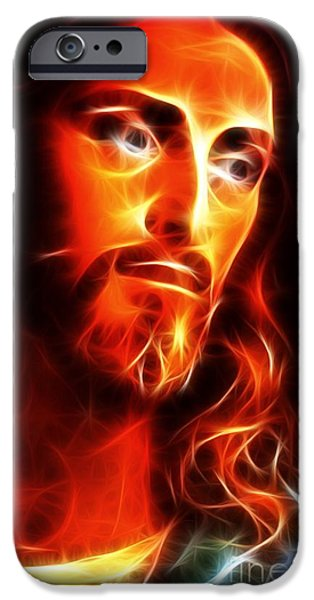 Jesus Face iPhone Cases - Jesus Thinking About You iPhone Case by Pamela Johnson