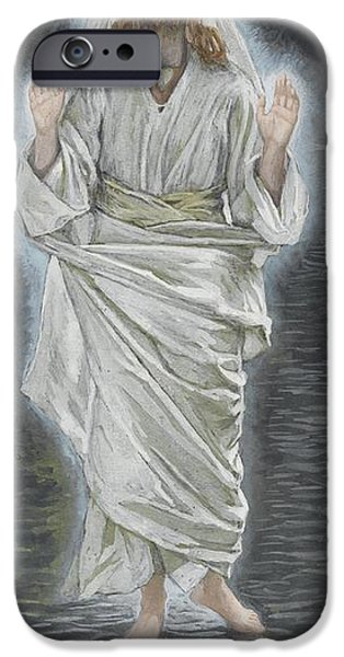 Miracle iPhone Cases - Jesus Walks on the Sea iPhone Case by Tissot