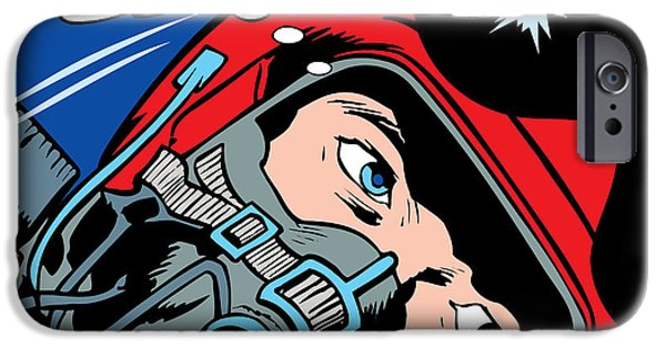 Weapon iPhone Cases - Jet Pilot iPhone Case by Gary Grayson