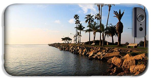 Newport Photographs iPhone Cases - Jetty on Balboa Peninsula Newport Beach California iPhone Case by Paul Velgos