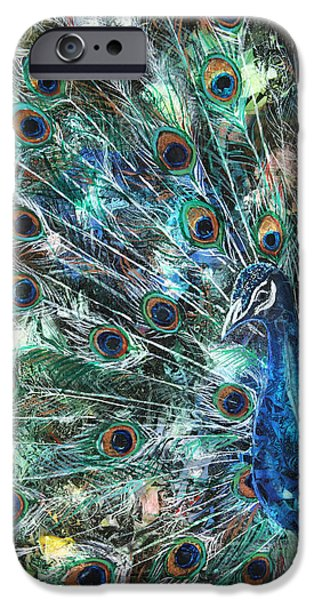 Peacock iPhone Cases - Jeweled iPhone Case by Patricia Allingham Carlson