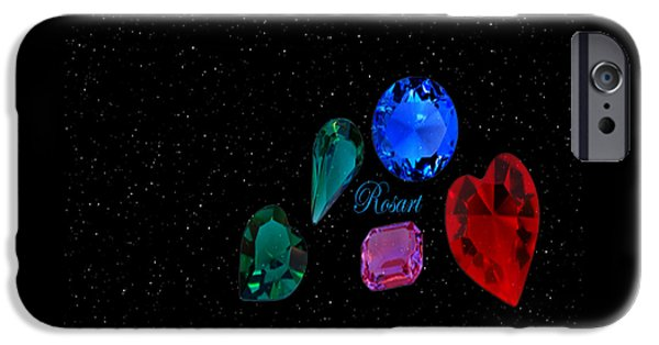 Jewellery Digital iPhone Cases - Jewellery iPhone Case by Rosa Maria Intorre