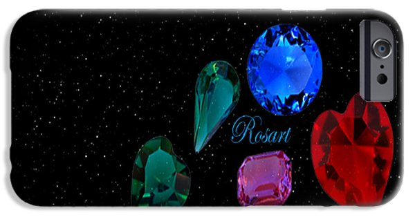 Jewellery Digital Art iPhone Cases - Jewellery iPhone Case by Rosa Maria Intorre
