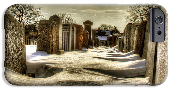 Cemetary iPhone Cases - Jewish cemetery #1 iPhone Case by Marc Daneau