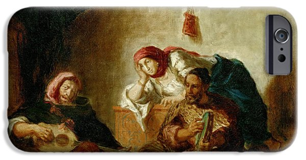 Delacroix iPhone Cases - Jewish musicians Mogador iPhone Case by Celestial Images