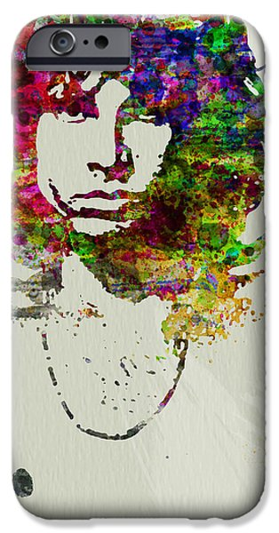 American Singer iPhone Cases - Jim Morrison iPhone Case by Naxart Studio