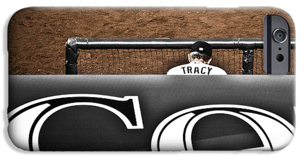 Manager iPhone Cases - Jim Tracy Rockies Manager iPhone Case by Marilyn Hunt