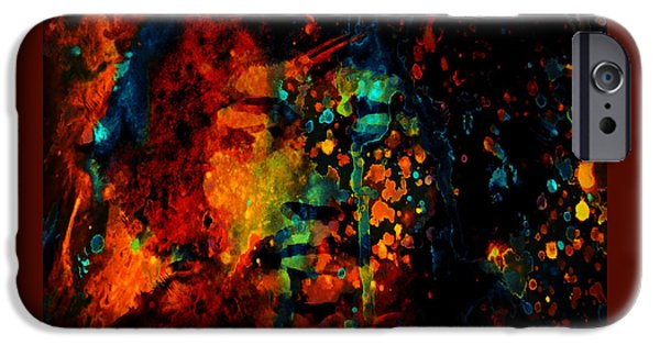 Johnny Allen Hendrix iPhone Cases - Jimi Hendrix Colorful World iPhone Case by Brian Reaves