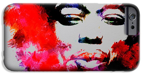 Johnny Allen Hendrix iPhone Cases - Jimi Hendrix Fire iPhone Case by Brian Reaves