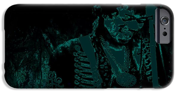 James Marshall Jimi Hendrix iPhone Cases - Jimi Hendrix Getting Down iPhone Case by Brian Reaves