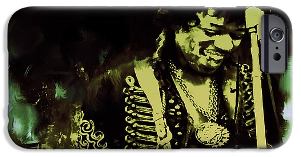 James Marshall Jimi Hendrix iPhone Cases - Jimi Hendrix Stone Free iPhone Case by Brian Reaves