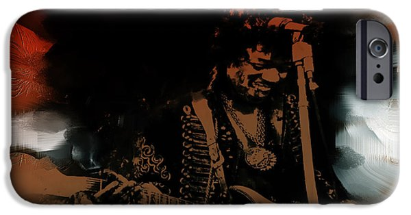 James Marshall Jimi Hendrix iPhone Cases - Jimi Hendrix The Dance iPhone Case by Brian Reaves