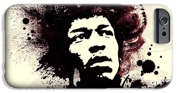 Sixties iPhone Cases - Jimi iPhone Case by Laurence Adamson