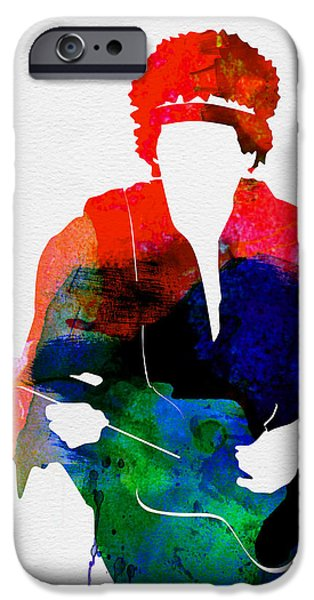 Piano iPhone Cases - Jimi Watercolor iPhone Case by Naxart Studio