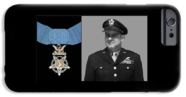 Honor iPhone Cases - Jimmy Doolittle and The Medal of Honor iPhone Case by War Is Hell Store