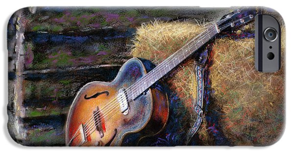 Barns Mixed Media iPhone Cases - Jims Guitar iPhone Case by Andrew King