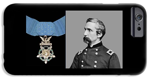 Patriots iPhone Cases - J.L. Chamberlain and The Medal of Honor iPhone Case by War Is Hell Store