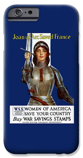 Great War iPhone Cases - Joan of Arc Saved France - Save Your Country iPhone Case by War Is Hell Store