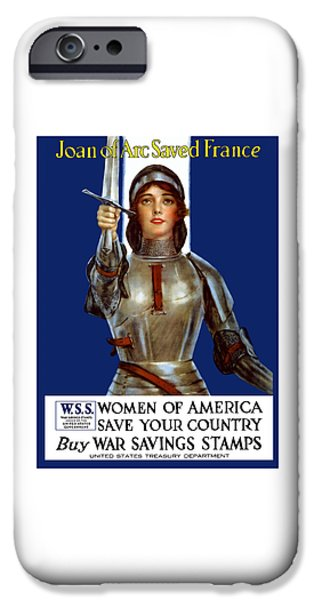 First World War iPhone Cases - Joan of Arc Saved France iPhone Case by War Is Hell Store