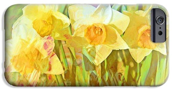 Floral Digital Art Digital Art iPhone Cases - Job 33 26 iPhone Case by Michelle Greene Wheeler