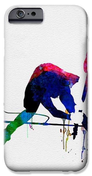 British Rock Star iPhone Cases - Joe Watercolor iPhone Case by Naxart Studio