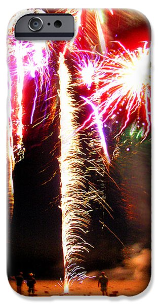 Joe's Fireworks Party 1 iPhone Case by Charles Harden