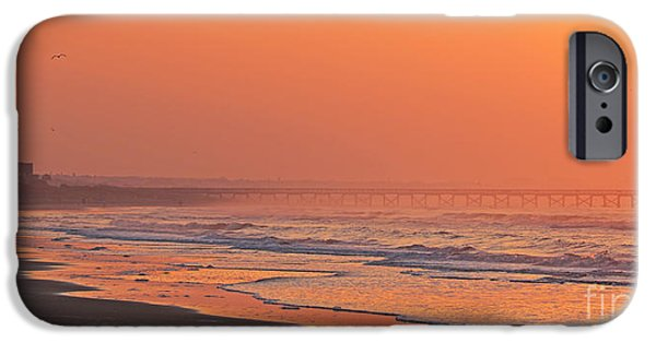 Jogging iPhone Cases - Jogger at Sunrise  3286 iPhone Case by Jack Schultz