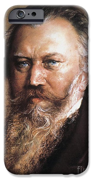19th Century iPhone Cases - Johannes Brahms iPhone Case by Granger