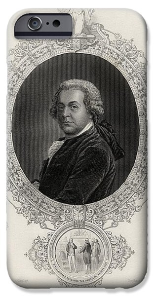 First Black President Drawings iPhone Cases - John Adams 1735-1826 First Vice iPhone Case by Ken Welsh