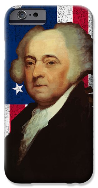 John Adams and The American Flag iPhone Case by War Is Hell Store