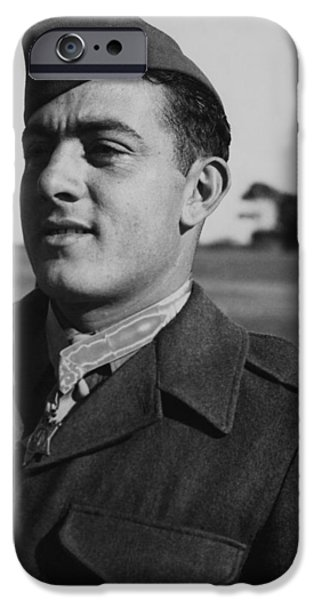 Honor iPhone Cases - John Basilone iPhone Case by War Is Hell Store