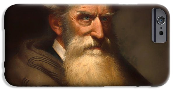Abolition Paintings iPhone Cases - John Brown iPhone Case by Ole Peter Hansen Balling
