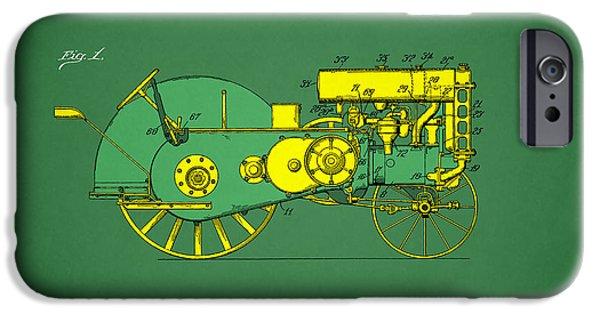 John Deere Tractor iPhone Cases - John Deere Tractor Patent iPhone Case by Mark Rogan