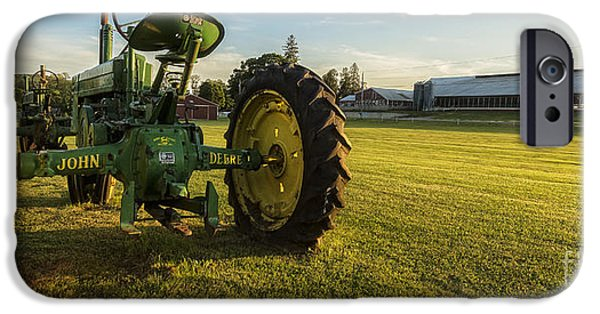Agricultural iPhone Cases - John Deere Trusty Work Horse iPhone Case by Edward Fielding