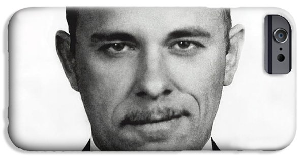 Public Jail iPhone Cases - JOHN DILLINGER - BANK ROBBER and GANG LEADER iPhone Case by Daniel Hagerman
