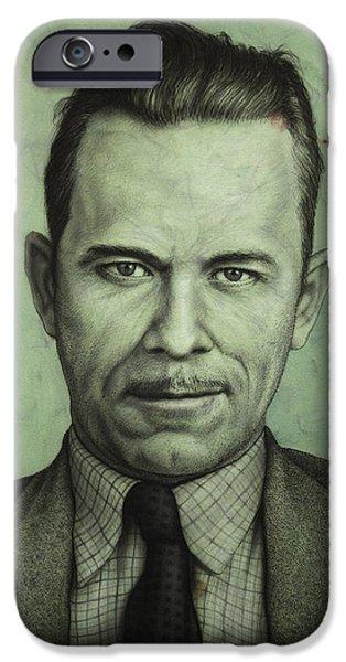 John Dillinger iPhone Case by James W Johnson
