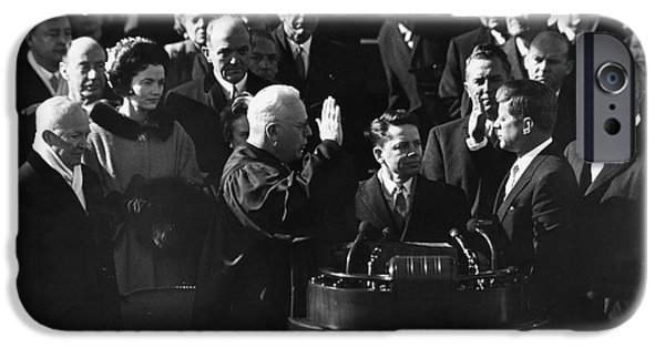 Inauguration iPhone Cases - John F. Kennedy iPhone Case by Granger
