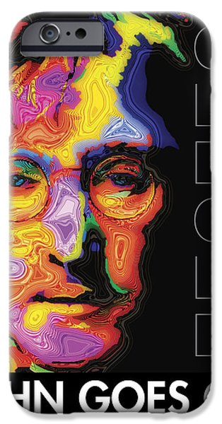 Fab Four iPhone Cases - John Goes On iPhone Case by Stephen Anderson