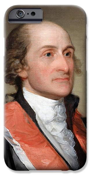 Cora Wandel iPhone Cases - John Jay By Gilbert Stuart Up Close iPhone Case by Cora Wandel