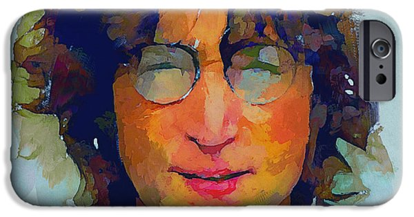 Nature Abstracts iPhone Cases - John Lennon Colors 4 iPhone Case by Yury Malkov