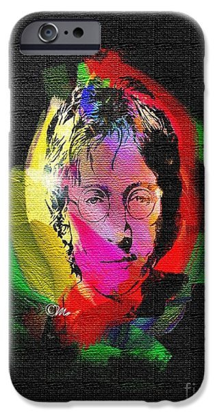 Beatles iPhone Cases - John Lennon iPhone Case by Mo T