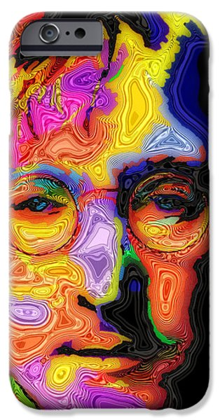 Beatles Digital iPhone Cases - John Lennon iPhone Case by Stephen Anderson
