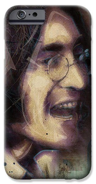John Lennon Tribute- Don't Let Me Down iPhone Case by David Finley