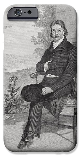 Politician iPhone Cases - John Randolph 1773-1833. American iPhone Case by Ken Welsh