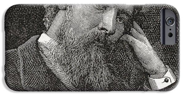Watercolour Portrait iPhone Cases - John Smart, 1838 - 1899. Scottish iPhone Case by Ken Welsh