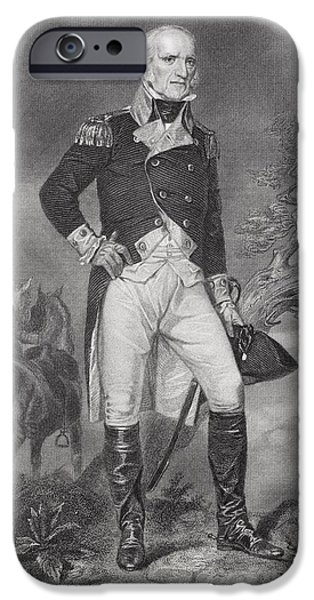 Famous Figures iPhone Cases - John Stark 1728-1822. American General iPhone Case by Ken Welsh