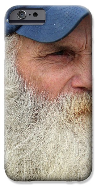 White Beard iPhone Cases - John Up Close iPhone Case by Joe Jake Pratt