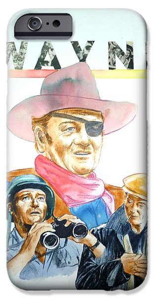 True Grit iPhone Cases - John Wayne iPhone Case by Bryan Bustard