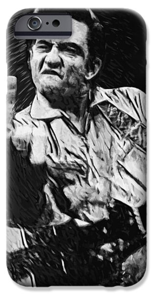 Arkansas iPhone Cases - Johnny Cash iPhone Case by Taylan Soyturk